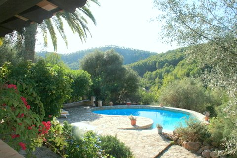 swimming pool and lower terrace house for sale in mallorca house in mallow house in mall